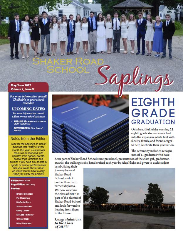 SRS May/June 2017 Saplings Newsletter